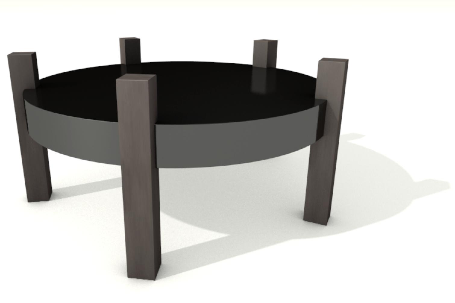 03 bung runder schwarz polierter niedriger tisch von. Black Bedroom Furniture Sets. Home Design Ideas